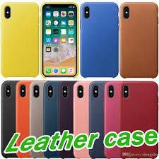 hot pu leather case original official case for apple iphone 7 8 plus x best quality metal on leather cover for iphone 5 5s se 6 6s cases cell phone case
