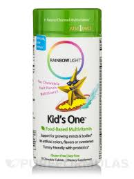 kids one chewable multivitamin minerals fruit punch flavor 30 chewable tablets