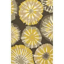 jaipur rugs barcelona starburst 7 6 x 9 6 indoor outdoor rug yellow gray