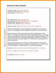5 Business Letter Structure Format Report Examples