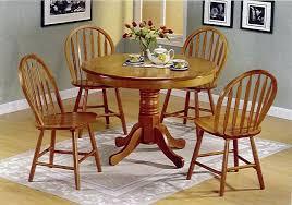 round oak dining table set pedestal kitchen dark room and chairs