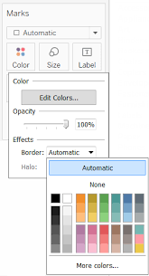 Tableau Bar Chart Border Color Palettes And Effects Tableau