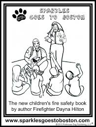 sparky the fire dog book. fire safety coloring pages print kids truck free sparky dog printable the sheets book