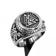 norse viking biker ring celtic knot amulet ring snless steel jewelry odin symbol motor biker ring