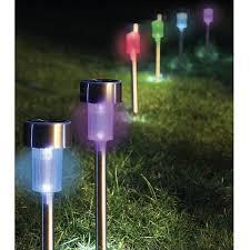 SOLAR SPOTLIGHT SET 2 GARDEN FEATURE LIGHTS POTS PLANTS PATHS  Solar Lights Garden Uk