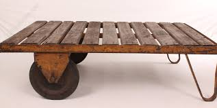 industrial trolley coffee table antique coffee tables