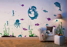 playroom wall decal children wall murals mermaid by popdecors