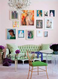 Love This Room Pink Walls Bright Bold Art And French