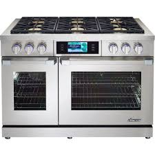 dacor self cleaning freestanding double oven dual fuel convection range stainless steel