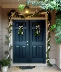painted double front door. Deep Blue Front Door. I May Want To Paint My Door This Color Painted Double