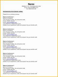007 Resume Reference Page Template Beautiful Job Sheet Ideas