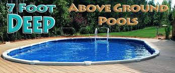 12 above ground pool pools ft deep inground