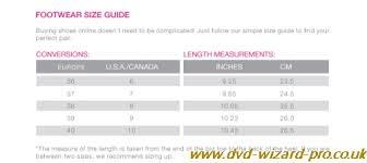 New Balance Size Chart Inches New Balance Size Chart Dvd Wizard Pro Co Uk
