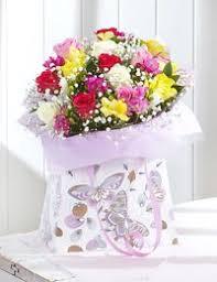 rose freesia gift bag