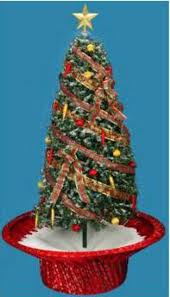6\u0027 Pre-Lit Musical Snowing Rotating Artificial Christmas Tree with Red Base - Polar White LED Lights 31301582