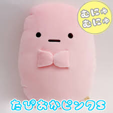 plumply soft and fluffy pillow gift present kthings which すみっ コ ぐらしむにゅむにゅ pillow たぴおか pink s character san x has a cute