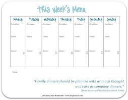 Weekly Menu For One Free Printable Weekly Meal Planner Not Quite Susie Homemaker