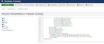 How to edit the html code of a custom footer module template ...
