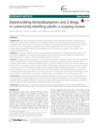 Deprescribing Benzodiazepines And Z Drugs In Community
