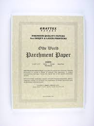 Parchment Paper Aged For Inkjet Printers