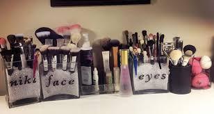 makeup brush holder beads. diy makeup brush storage holder beads n