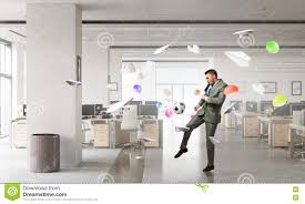 Playing Office Soccer Mixed Media Stock Image Image Of Corporate