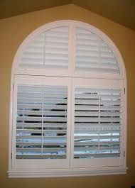 3 12 Inch Arched Plantation Shutters By The Louver Shop On A Semi Circle Window Blinds