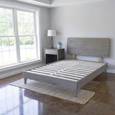 Mid Century Bed Frame - Reclaimed Ash Barn Wood Platform - Headboard  Included