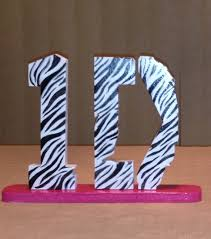1D One Direction Shelf Table Desk Decor Zebra By KDColors12, $17.99