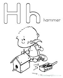 Letter H Coloring Sheets Letter H Coloring Page Letter H Coloring