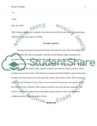 policy memo assignment example topics and well written essays  policy memo essay example