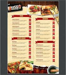 Menu Templates Design Restaurant Cafe Menu Template Design Food Flyer Bar Templates