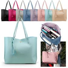 women tote bag tassels leather shoulder handbags fashion las purses satchel messenger bags 0
