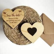 erfly wooden save the date heart magnet