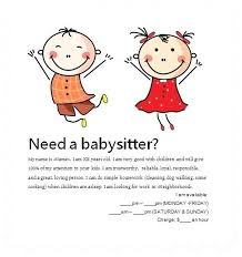 Babysitting Templates Flyers Babysitting Template Dealsoftheday Info