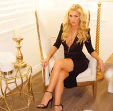 gretchen rossi home facebook image contain 1 person sitting shoes and indoor