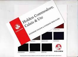 Vf Commodore Colours Chart Details About 1998 Holden Vt Commodore Calais Ute Exterior Interior Colour Chart