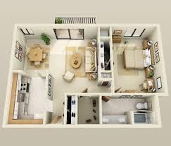 General: Mumbai One Bedroom Apartment - 1 Bedroom Apartment Plan