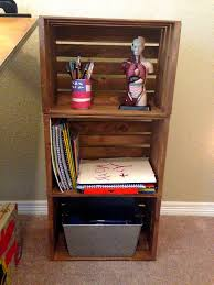 wood crate shelves