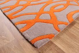 fresh orange grey rug and rugs designs