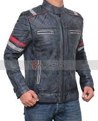 mens biker retro jacket