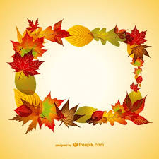 autumn leaves frame free vector
