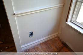 install baseboard and chair rail how to install picture frame moulding wainscoting addicted2decorating