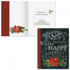Merry Jolly Festive Note Card Size Christmas Cards Colorful Images