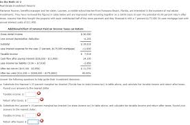 Florida Salary Calculator After Taxes Solved Do The Math 16 2 Real Estate Investment Returns Ma