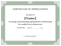 Free Appreciation Certificates 28 Best Of Free Certificate Of Appreciation Templates