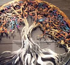 outdoor tree of life wall art art gallery