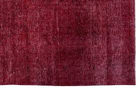 red persian rug over dyed x red persian rug