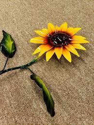 metal sunflowers rustic metal