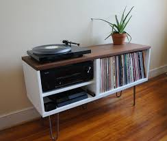 vinyl record furniture. Mid Century Mdern Vinyl Media Storage Record Furniture